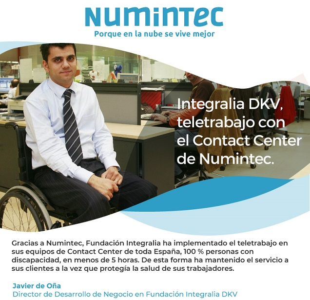 Integralia DKV. Teletrabajo con el Contact Center de Numintec
