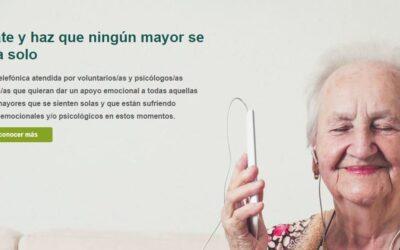 #NingúnMayorSolo, un servicio de soporte emocional y psicológico para personas mayores